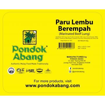 Paru Berempah (Marinated Beef Lung)